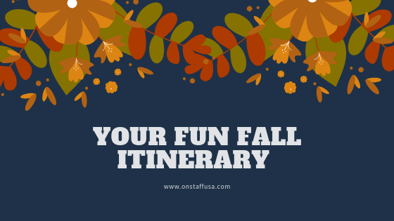 Fun Fall Itinerary